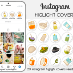 Instagram Story Highlight Icons, beauty highlight covers