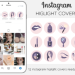 Instagram Story Highlight Icons, make up highlight covers