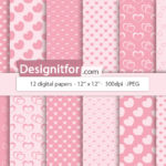 Valentine's Paper Pack, Digital Paper, Instant Download