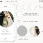 Instagram Templates for Photographers, instagram stories template, instagram highlight cover icons, post templates