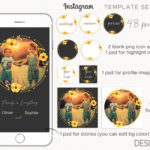 Instagram Templates, stories template, instagram highlight cover icons, post templates