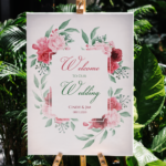 Floral and Greenery Wedding Welcome Sign Template, Welcome Board, Welcome Poster