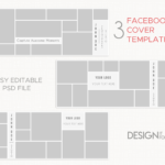 Facebook Cover Template Photography, Collage Facebook Cover PSD for Pages