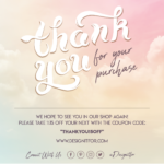 Thank You For Your Purchase Card Template, For Your Order Card Template, Photoshop Template