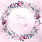 Floral Wreath Svg Png Clipart Leaves, Watercolor Flower Leaf Circle Frame Clip Art, Vector, Pink Purble Wedding Invitation, Logo Brand