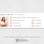 Email Signature Template Clickable Editable, Custom Gmail Photographer E-Mail Signature, HTML Premade No Photoshop Business Email Signature