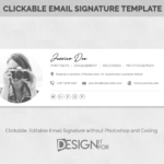 Email signature template, Photoshop template, Psd Email template, Photographer signature template