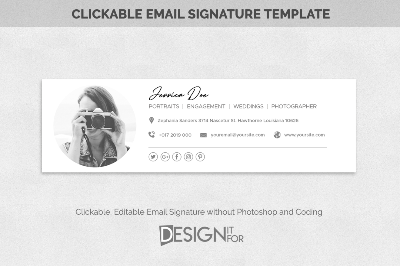 Email Signature Template Photoshop Template Psd Email Template Photographer Signature Template Design It For Our Digital Designs For You