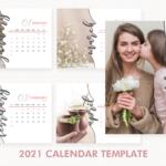 2021 Calendar Template, Desk Calendar, 2021 Printable Calendar, Year Calendar, Editable, PSD File, Instant Download, Calendar 2021