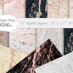 Rose Gold Marble Digital Paper, Nude marble textures, Marble Digital Paper Pack, Marble Texture, marble backgrounds