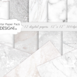 White Marble Digital Paper Pack, Grey Silver Marble Textures, white marble, marble backgrounds