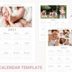 2021 photo calendar template, calendar with collage, printable wall calendar template, Year Calendar,monthly calendar, Photography Calendar