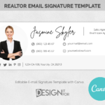 Email Signature Template Logo Realtor, Real Estate E-mail Signature Picture, Canva Email Signature, Professional Marketing Email Signature
