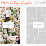 Poster size photography collage template, 24 x 36 photoshop collage template, photo collage, Storyboard Templates, Photo Collage Template