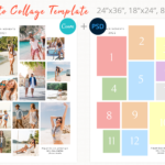 Modern Photo collage template, Canva Collage, 24×36, 18×24, 8,5×11 inch collage template, photo collage, Storyboard Templates, Poster size, letter size