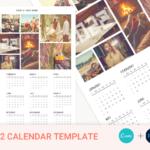 2022 Canva Calendar Template, Year Calendar, Photo Calendar Template, Letter Size Calendar, Editable, Printable, PSD File, Instant Download